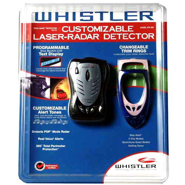 Whistler Customizable Laser-Radar Detector